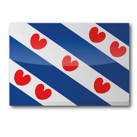 Flagge Friesland Standard-Bild - 24476948