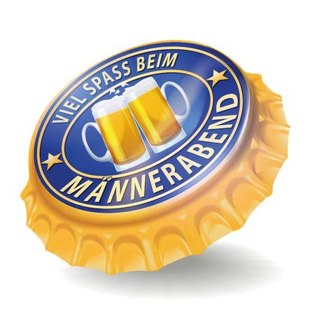 hombre tomando cerveza: Muchachos tapa de la botella la noche