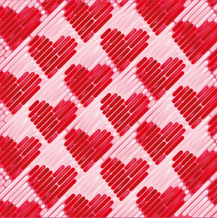 Pink fabric with small hearts Stock Vector - 24476954