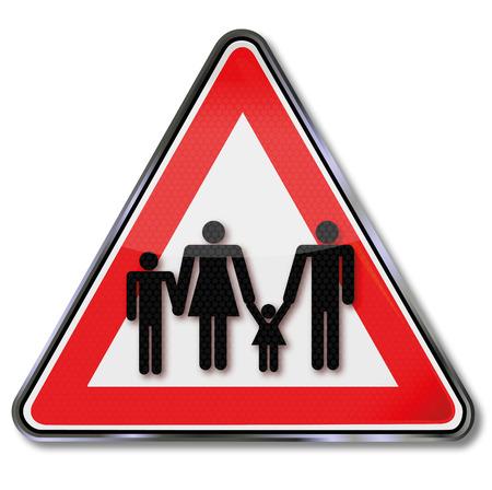 accident woman: Familias Reg�strate y las pol�ticas familiares Vectores