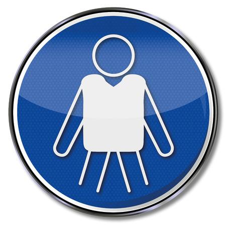 occupational risk: Mandatory sign use lifejacket