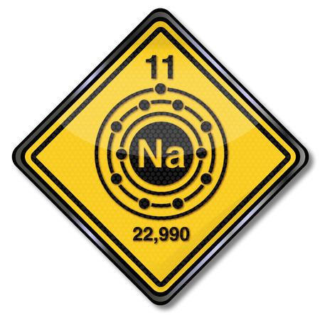 salts: Sign chemistry character sodium Illustration