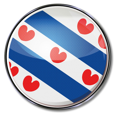 Button Friesland Vector