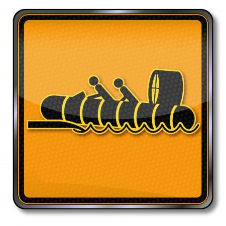 amphibious: Sign hovercraft Illustration