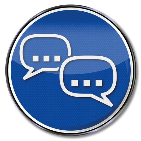 nonsense: Sign talk and speech bubbles Illustration