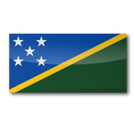 atoll: Flag Solomon Islands Illustration