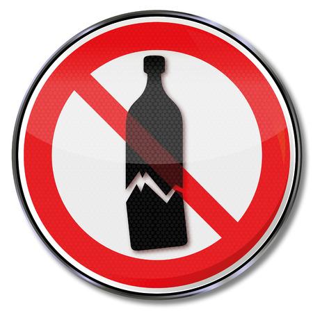 good break: Advertencia Se�al de prohibici�n de rotura posible de vidrio y productos sensibles