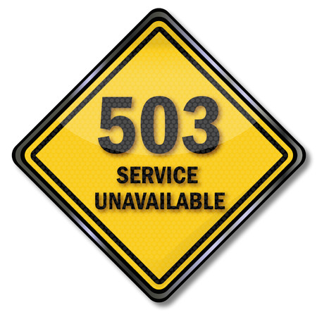 Computer sign 503 service unavailable