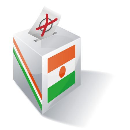 absentee voting: Ballot box Niger