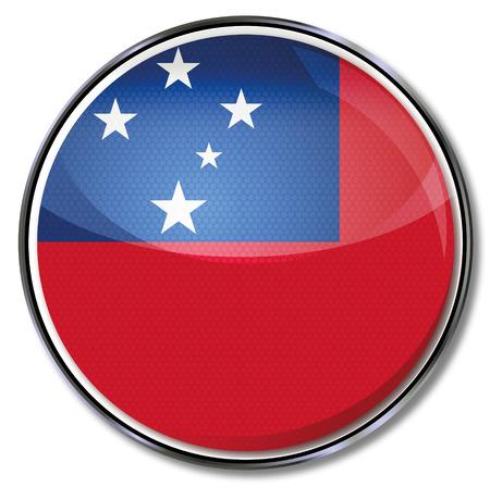 samoa: Button Samoa Illustration