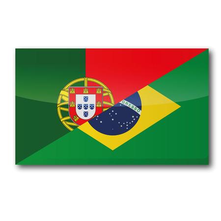 translation: Flag with translation into portuguese and brazilian