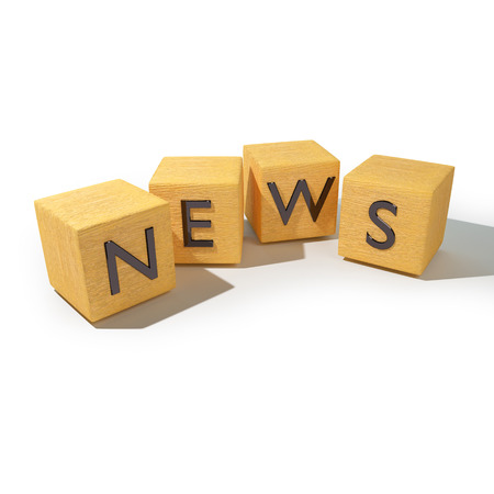 novelty: Wooden dice with news
