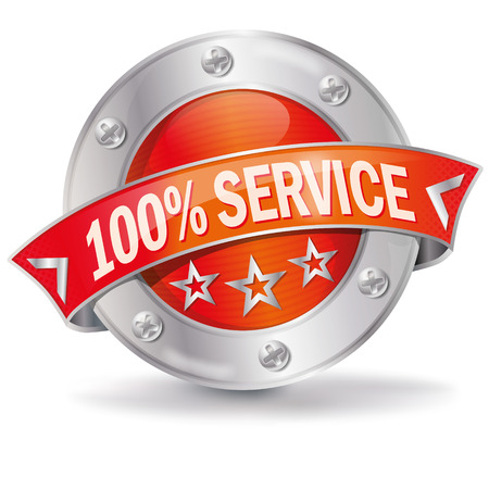 Button 100  service Vector