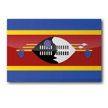 landlocked country: Bandera de Swazilandia