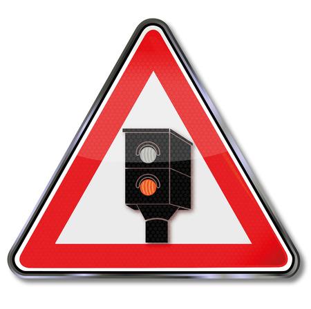 speeder: Traffic sign caution radar and lightning