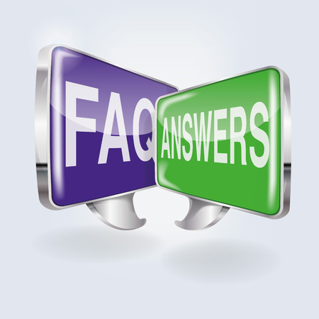 Bubbles with FAQ and answers  Illustration