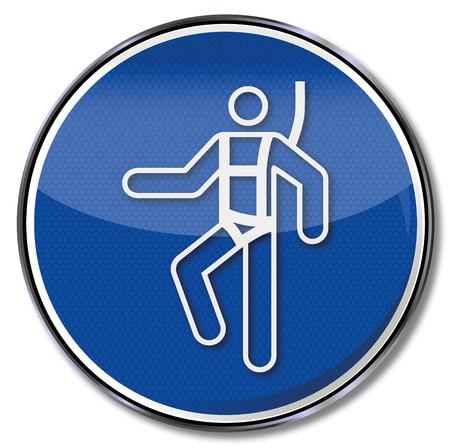 señales de seguridad: Obligatorio el uso de arnés señal de seguridad