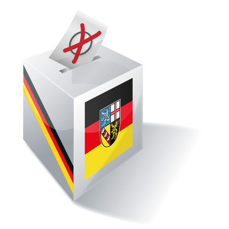 either: Ballot box Saarland