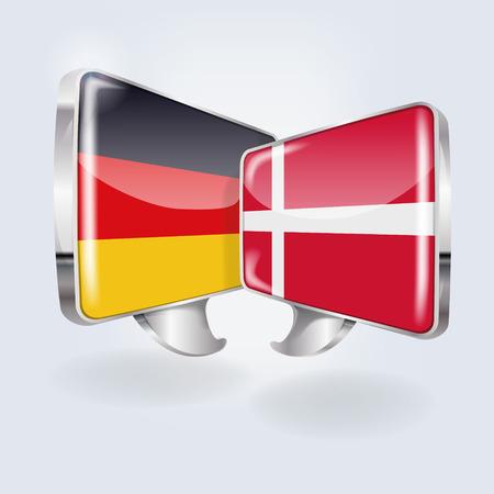 danish: Bubbles and speech Speech in German and Danish