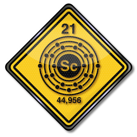 enriched: Sign chemistry character scandium