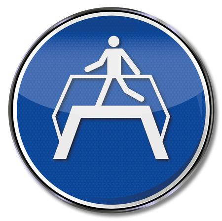osh: Mandatory sign use transition Illustration
