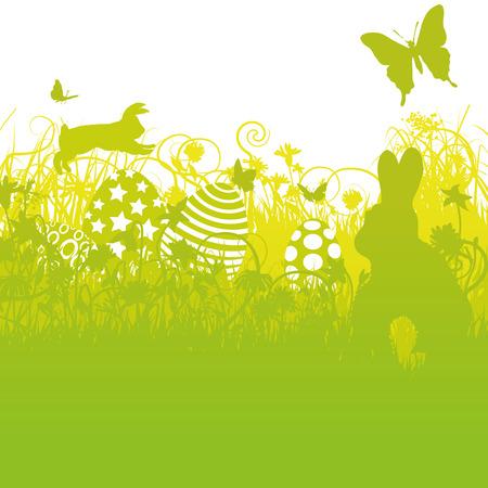 Easter eggs, easter, bunny, rabbit and easter rabbit Ilustração