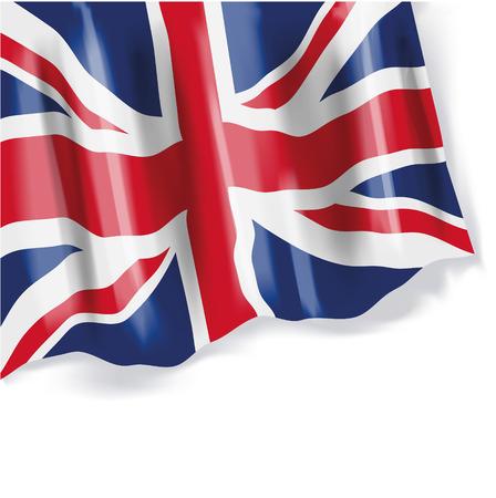 englishman: Waving flag of Great Britain