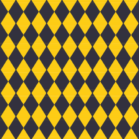 checked: Cloth with yellow and black plaid