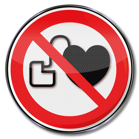 Prohibition sign for persons with pacemakers