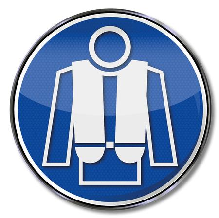 buoyancy: Mandatory sign carry lifejacket  Illustration