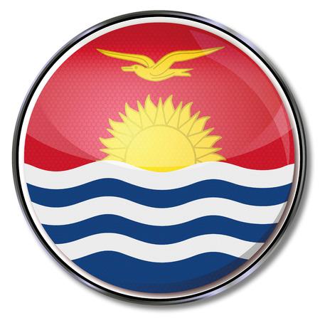 kiribati: Button Kiribati Illustration