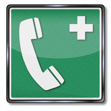 Emergency sign emergency telephone