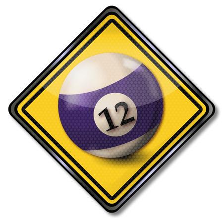 misfortune: Sign billiard ball number 12