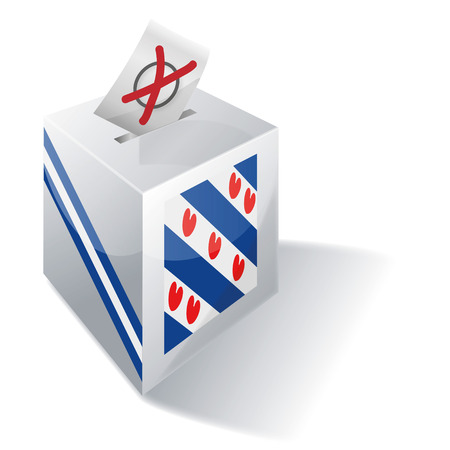 Ballot box Friesland Vector