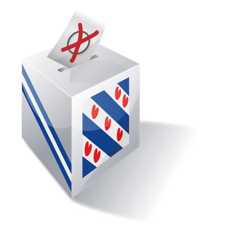 absentee: Ballot box Friesland