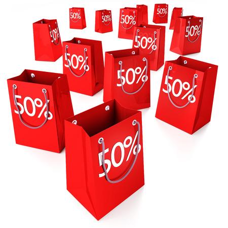 Shopping bags 50   Stock Photo