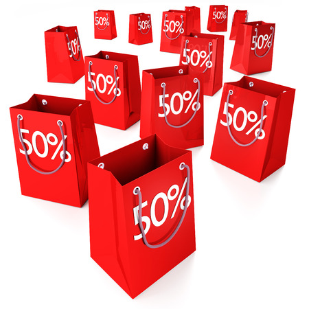 top 50 icon: Shopping bags 50   Stock Photo