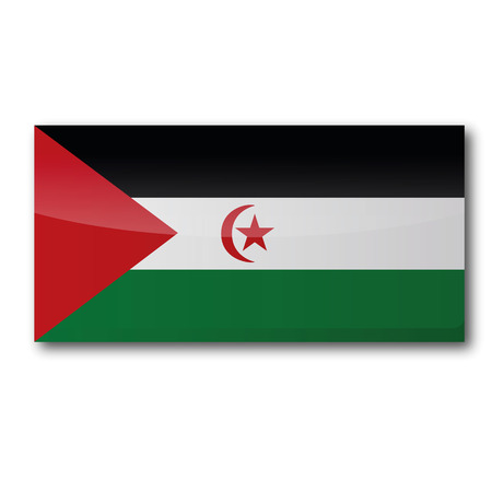 voting rights: Flag Western Sahara