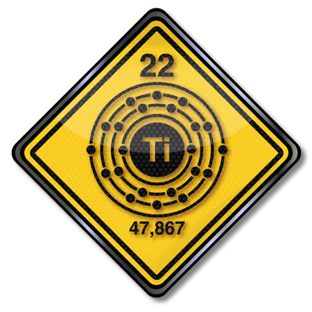 Sign chemistry character titanium  Illustration