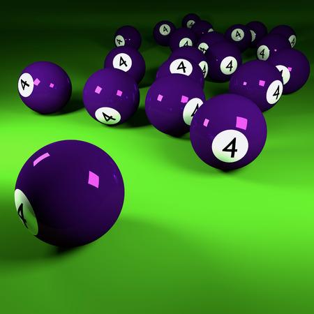 concealment: Violet billiard balls number four