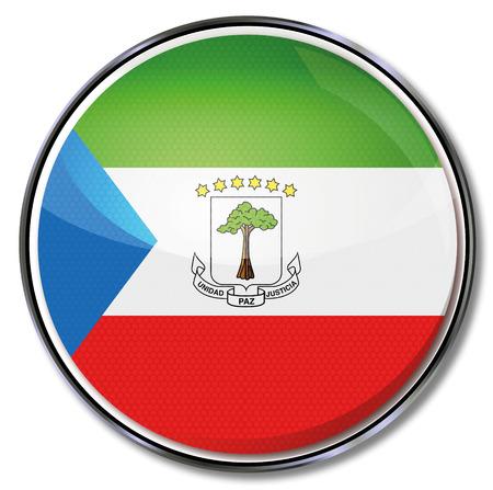 guinea equatoriale: Button Guinea Equatoriale Vettoriali