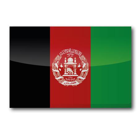 landlocked: Flag Afghanistan Illustration