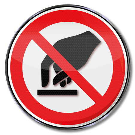 prohibitions: Prohibition sign forbidden to touch