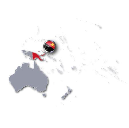 Nuova Guinea: Mappa Pacifico con Nuova Guinea