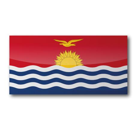 kiribati: Flag Kiribati Illustration