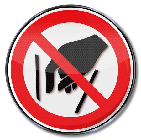 interdiction: Signe d'interdiction à atteindre l'intérieur est interdit Illustration