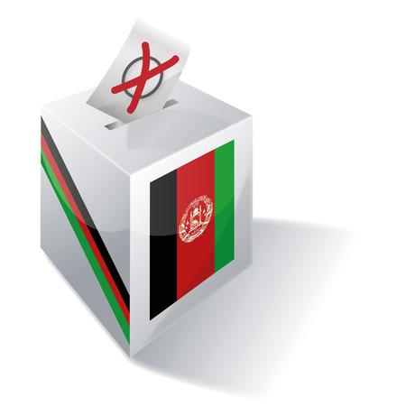 absentee: Ballot box Afghanistan Illustration