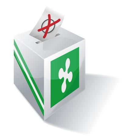 absentee: Ballot box Lombardy Illustration