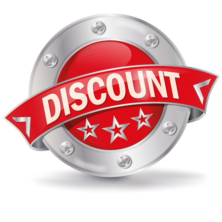 Button discount  Vector