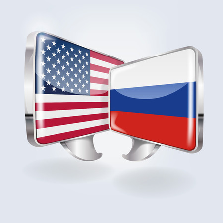 disarmament: Bubbles with USA and Russia Illustration